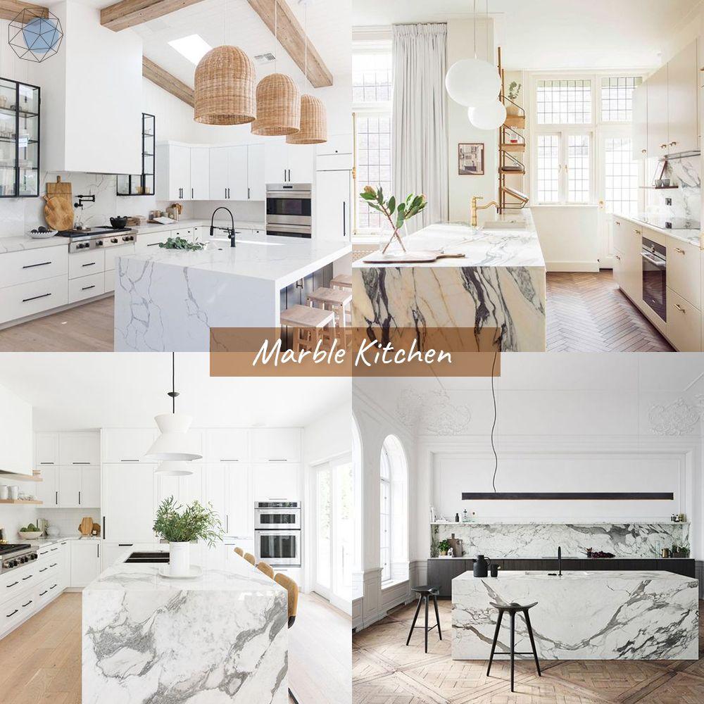 """ออกแบบห้องครัว """"ลายหินอ่อน"""" (Marble Kitchen)"""