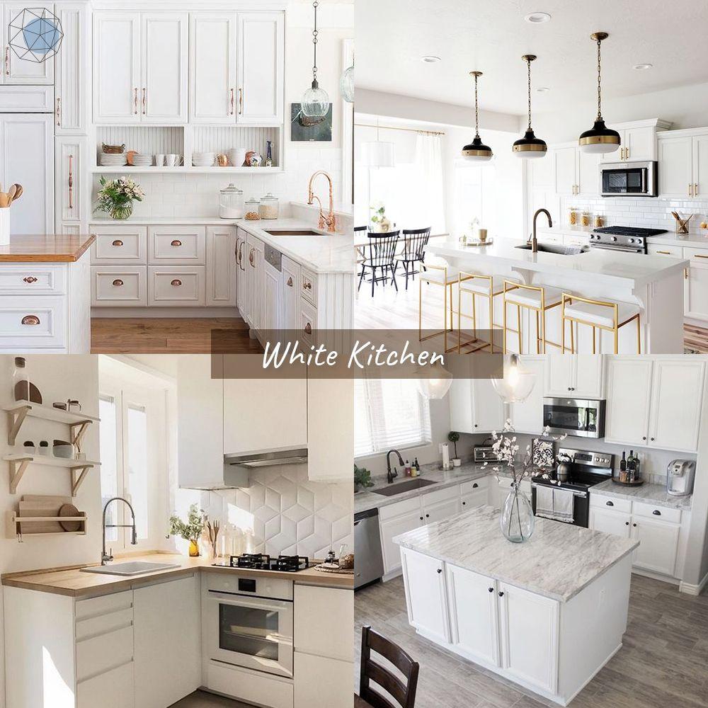"""ออกแบบห้องครัว """"โทนขาว"""" (White Kitchen)"""