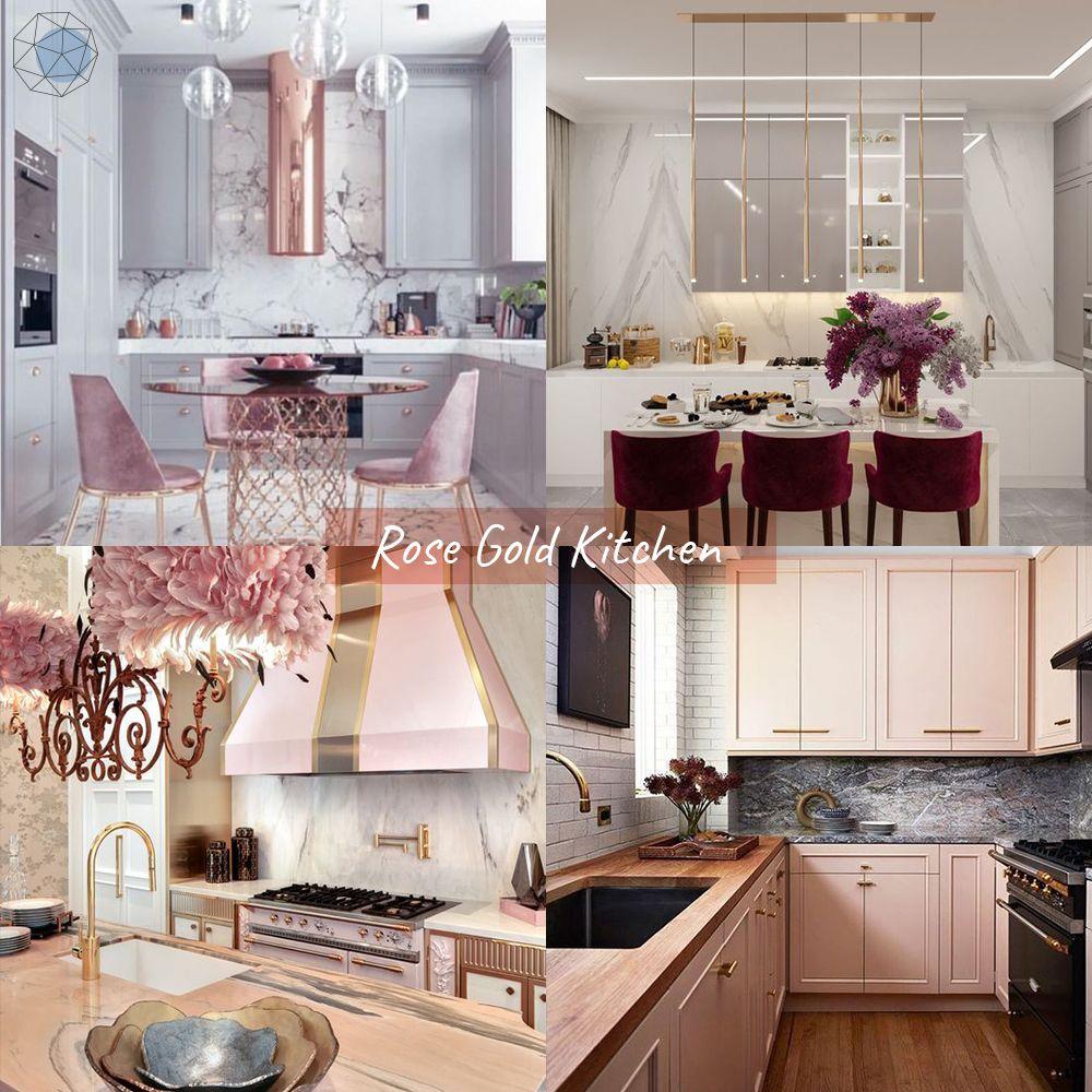 """ออกแบบห้องครัว """"โทนสีโรสโกลด์"""" (Rose Gold Kitchen) """