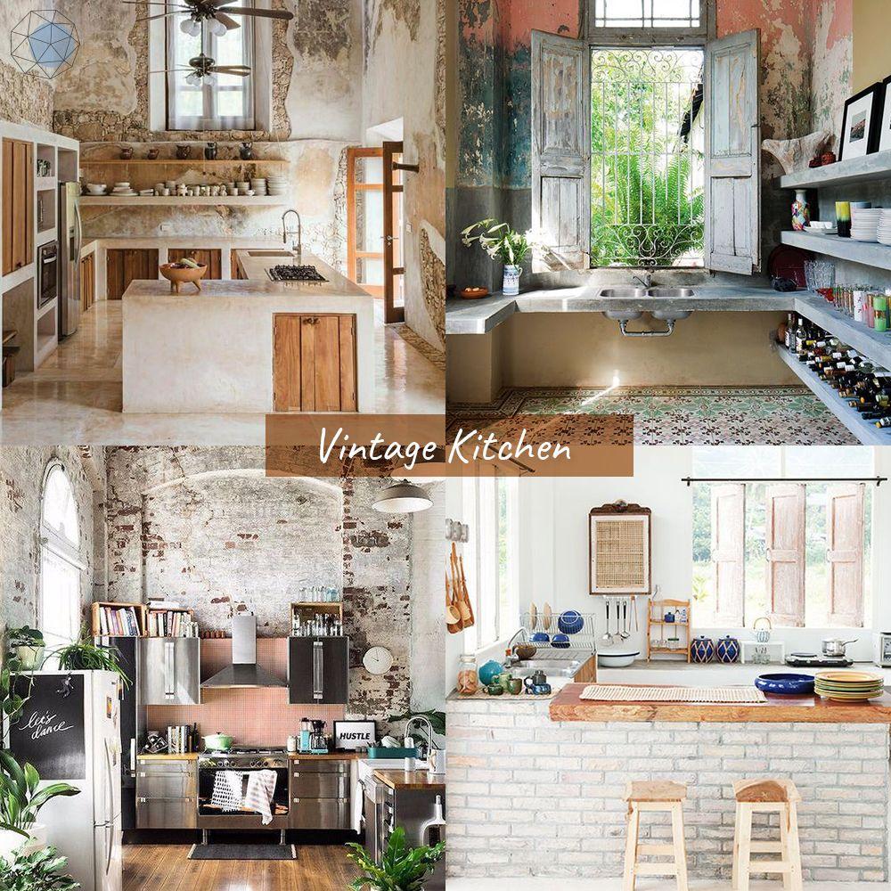 """ออกแบบห้องครัว """"สไตล์วินเทจ"""" (Vintage Kitchen)"""