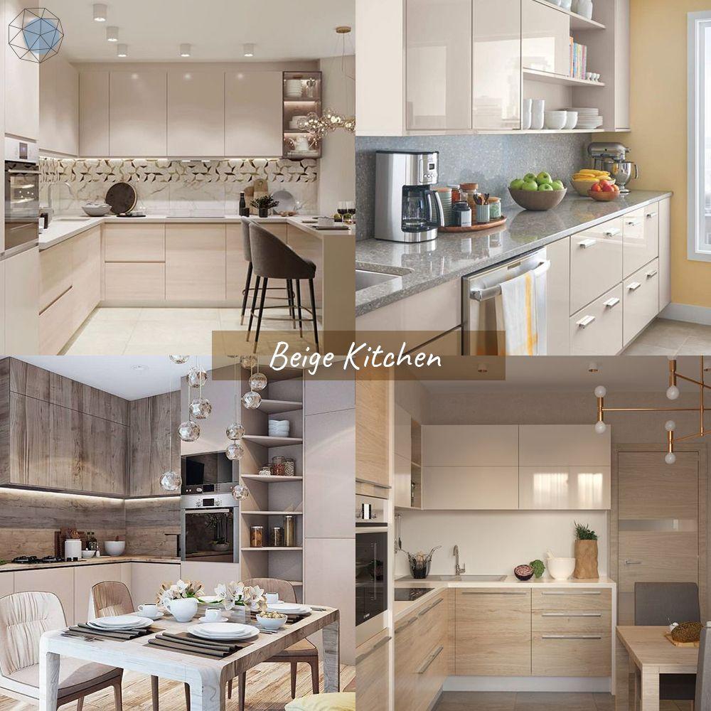 """ออกแบบห้องครัว """"โทนสีเบจ"""" (Beige Kitchen) """