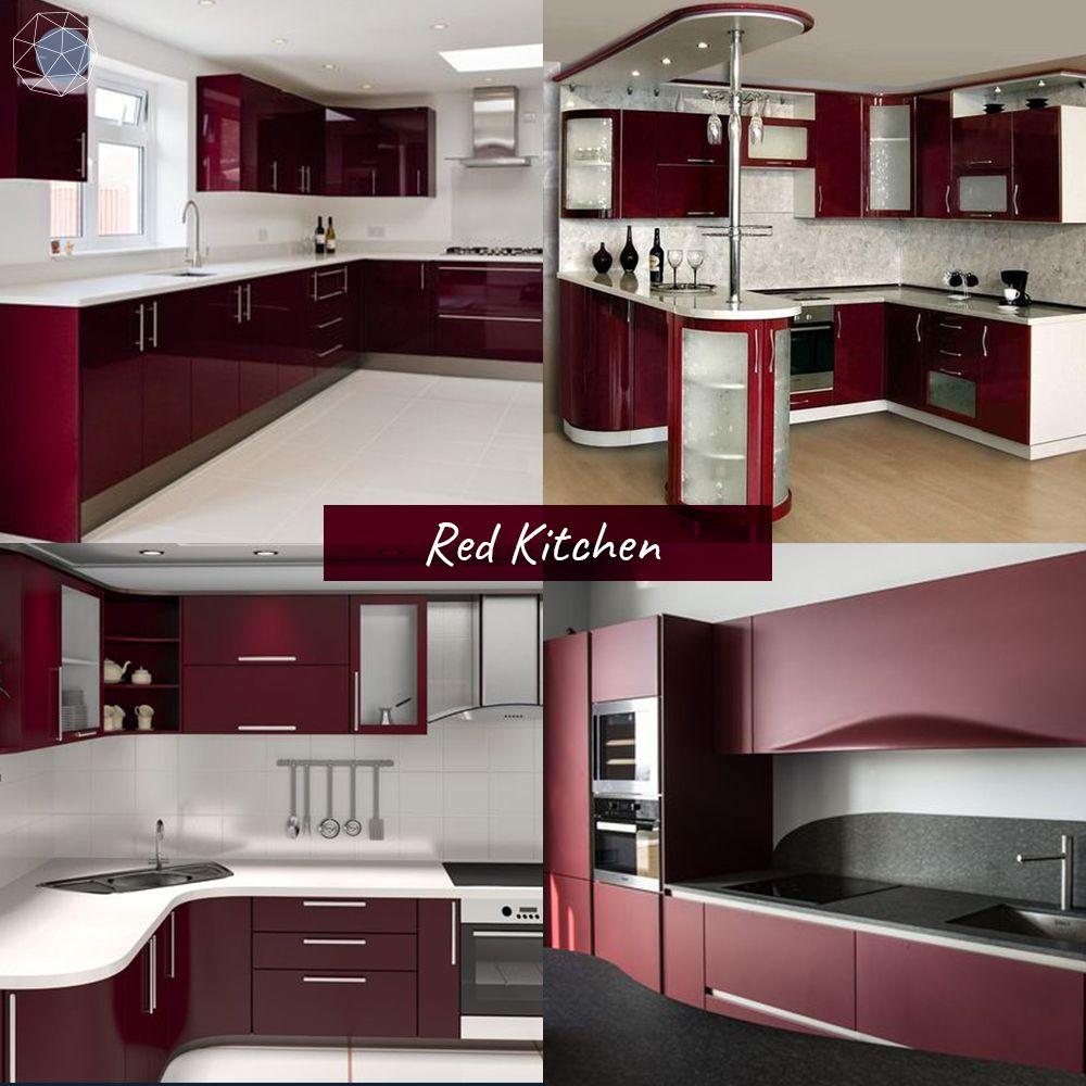 """ออกแบบห้องครัว """"โทนแดง"""" (Red Kitchen) """