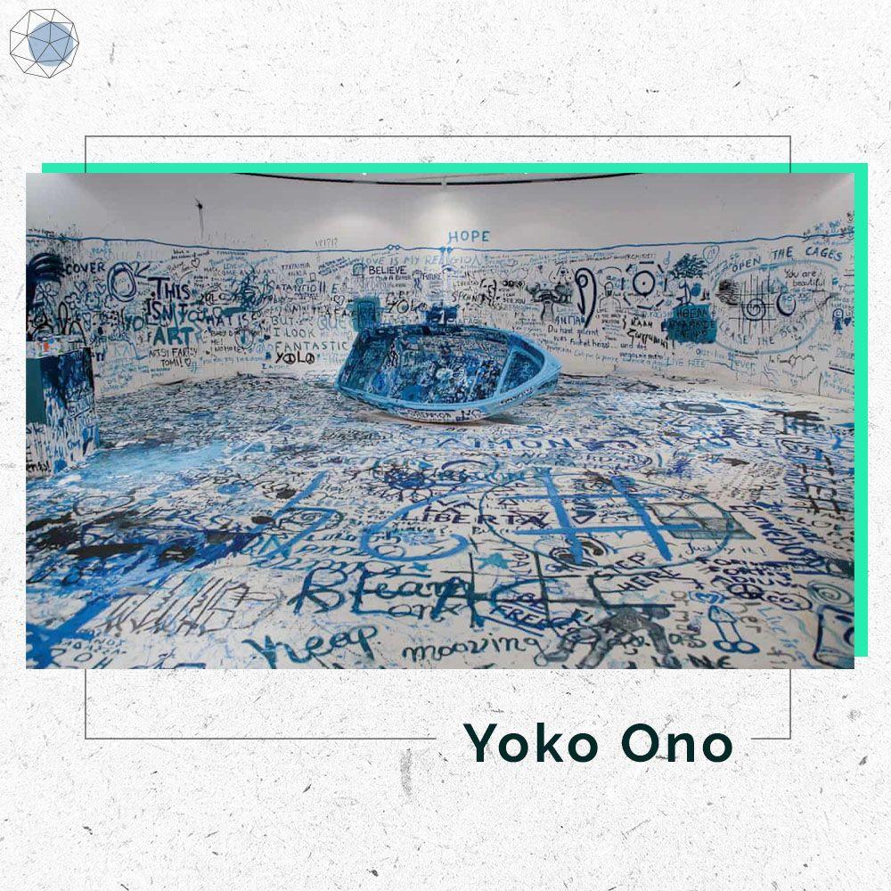 """ผลงาน """"Refugee Boat"""" ของ Yko Ono"""