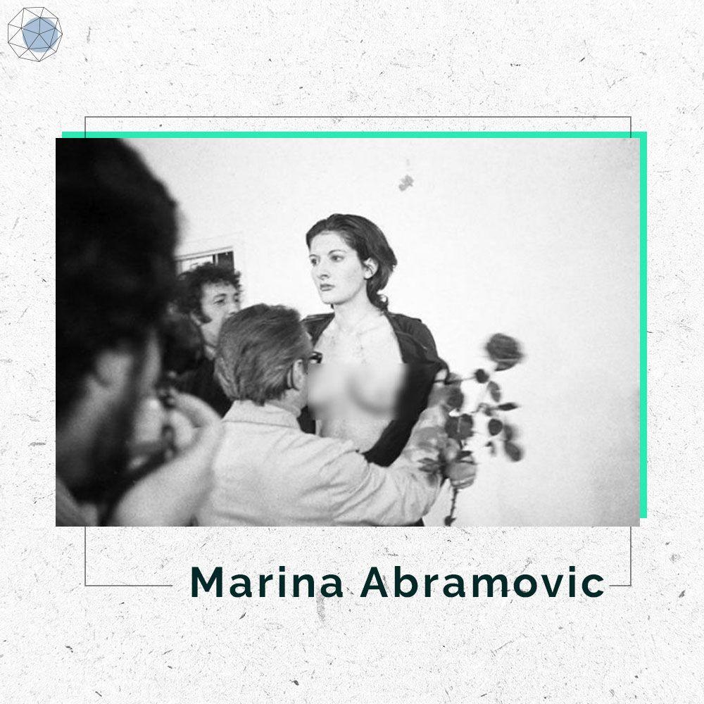 """มารินา อบราโมวิช ตัวเจ้าของผลงาน """"Rhythm 10"""""""