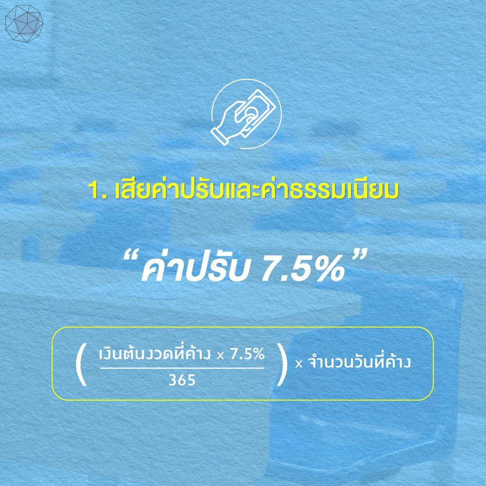 ไม่จ่ายหนี้ กยศ. จะเสียค่าปรับ 7.5%