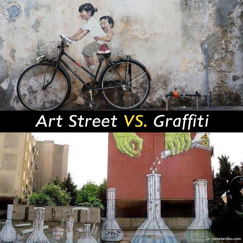 กราฟฟิตี้ต่างจาก Art Street อย่างไร