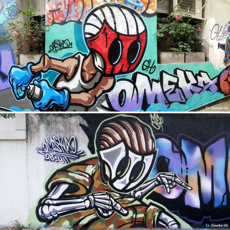 Graffiti by Omeka mek