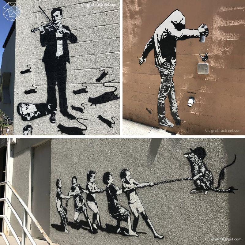 Graffiti by Blek le Rat