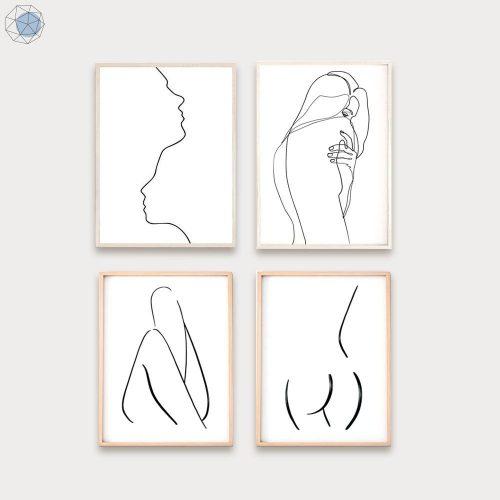 Women's body Line Drawing